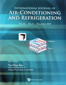 مجله International Journal of Air-Conditioning and Refrigeration