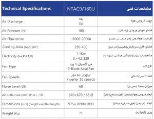 NTA9-180U-مشخصات-فنی-سوپر-کولر-سلولزی-پلیمری-بالازن-نیرو-تهویه-البرز